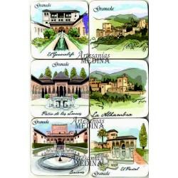 Posavasos Alhambra acuarela
