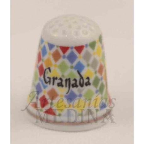 Dedal azulejos colores con Granada