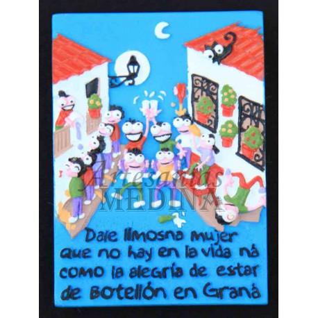 "Imán botellón ""Graná"""