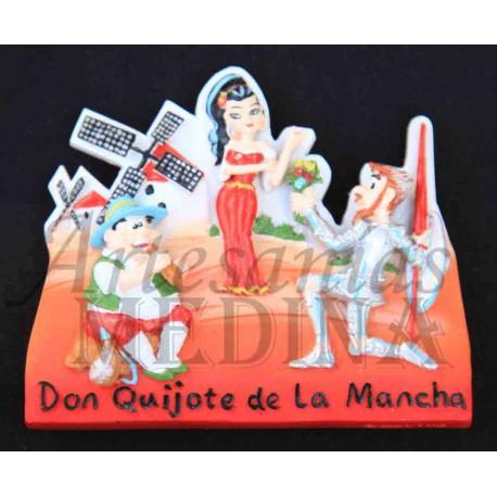 Imán Don Quijote con Dulcinea