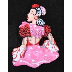Imán flamenca rosa
