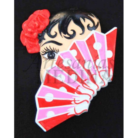 Imán cara flamenco + abanico
