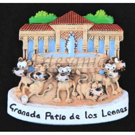 Imán Patio de los Leones cómic