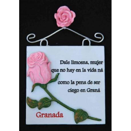 """Imán placa """"dale limosna…"""" + Granada"""