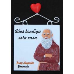 Imán placa Dios bendiga… + Fray Leopoldo