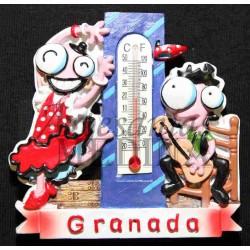 Imán termómetro flamenca y guitarrista + Granada