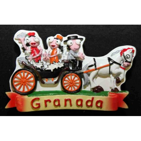 Imán coche caballos Granada