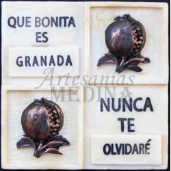 Imán placa que bonita es Granada…