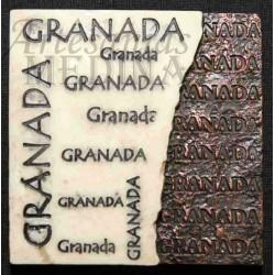 Imán placa letras Granada