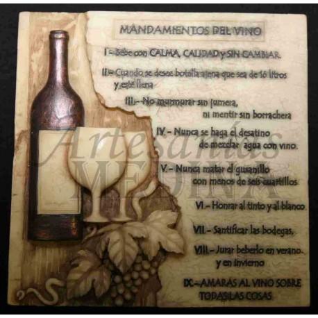 Placa los 10 mandamientos del vino