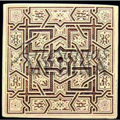 Imán arabesco nº 10 cuadrado