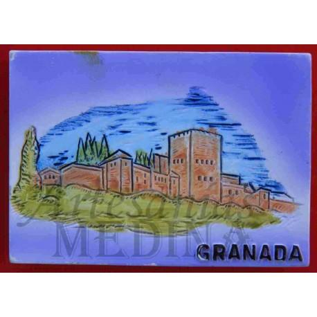 Imán Alhambra acuarela