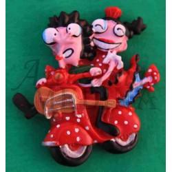 Imán flamencos en moto