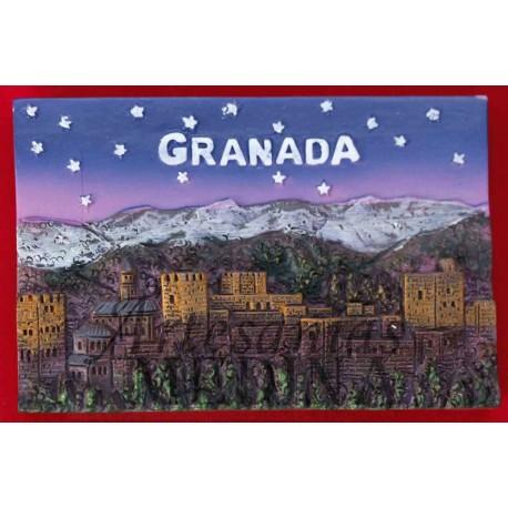 Imán la Alhambra de Granada de noche