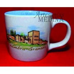 Tazón La Alhambra Granada acuarela