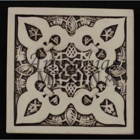 Imán arabesco cuadrado