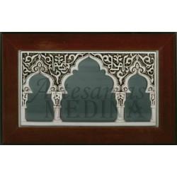 Espejo con arcos de diseños arabescos