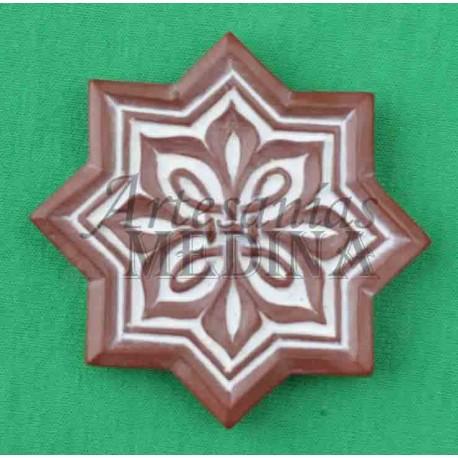 Imán arabesco (nº 17) estrella marrón