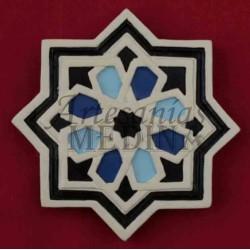 Imán arabesco estrella azul oscuro y claro