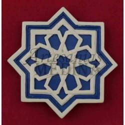 Imán arabesco estrella azul oscuro