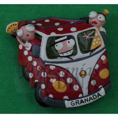 Imán furgoneta hippy Granada