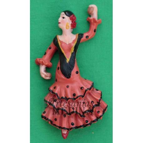 Imán flamenca naranja