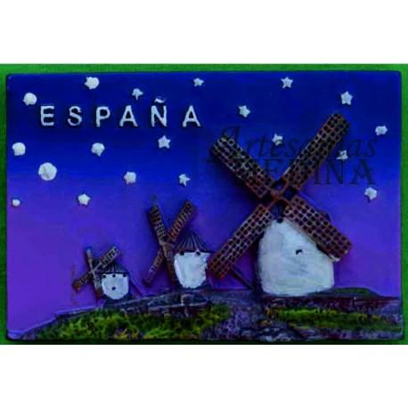 Imán molinos de España de noche