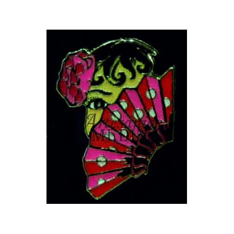 Pin Flamenca abanico