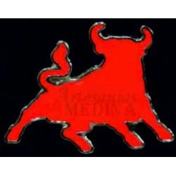 Pin toro rojo