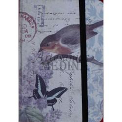 Libreta pájaro y mariposa