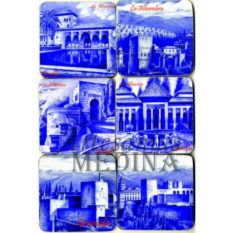 Posavasos Alhambra azul