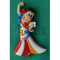 Imán flamenca multicolor