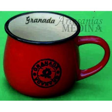 Tazón vintage Granada de color rojo.